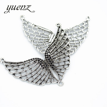 YuenZ 2 pcs moda antik Wings charms Metal kolye Charms kolye takı yapımı 60*65mm D429