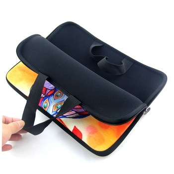 9.7 10 12 13 1415 17 inch Beauty Girl laptop bag tablet sleeve case with handle PC handbag computer notebook cover pouch #
