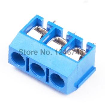 20 PCS 3 Pin vidalı Terminal bloğu Connector 5.08mm Pitch B