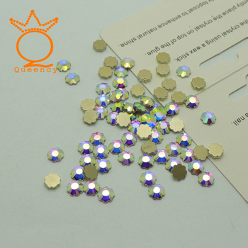 Crystal stone For Nail Design Novelties AB flower 6mm nails accessoires rhinestones glass for nails 12pcs/Bag nail decorations